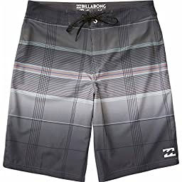 Billabong Men\'s All Day X Plaid Stretch Boardshort, Black, 32