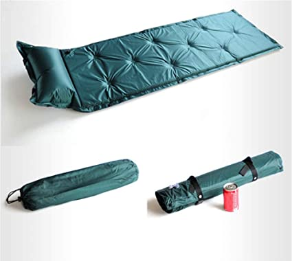 Esterillas Acampada Auto-Inflables Colchon De Viento Colchoneta con Bolsa De Transporte Ultraligera Camping Almohada