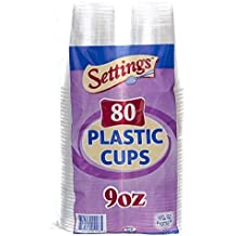 Settings 9oz Clear Plastic Disposable Cups 80 Count