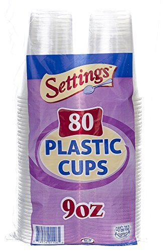 Settings Clear Plastic Disposable Cups, 9oz, 240 Count