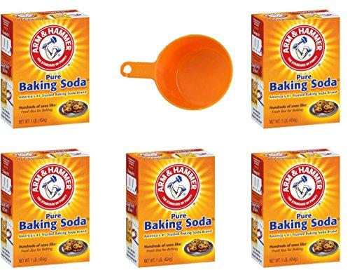 Arm & Hammer Baking Soda, 16 oz (5 Pack - Best Value)