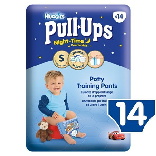 Huggies Small Pull-Ups Night-Time 8-15kg Boys 14 per pack by Huggies