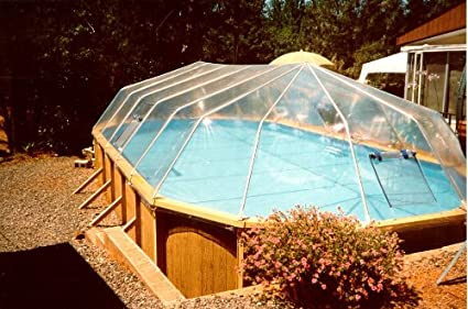 Amazon.com: 15\' X 26\' Oval Above Ground Swimming Pool Solar ...