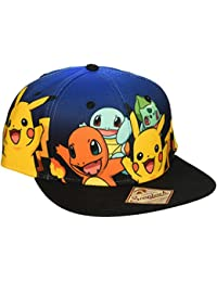Pokemon The Original Starters Blue Gradient Snapback Cap