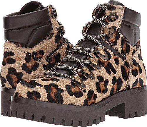 London Leopard - Shellys London Women's Tulle Combat Boot, Leopard, 39 EU/8.5 M US