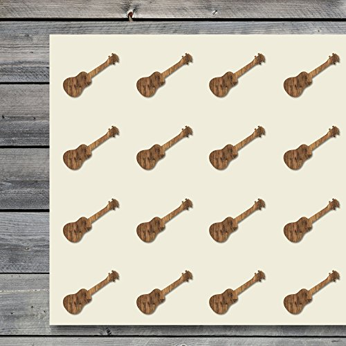 (Ukulele Hawaiian Song Instrument Craft Stickers, 44 Stickers at 1.5 Inches, Great Shapes for Scrapbook, Party, Seals, DIY Projects, Item 234745)