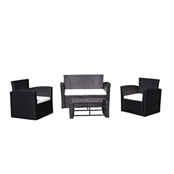 vidaXL Conjunto Muebles de Jardín Sillones y Mesita de ...