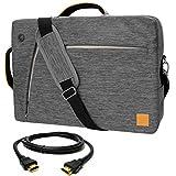 VanGoddy Gray Slate 3-in-1 Hybrid Laptop Bag for Acer TravelMate Series / ChromeBook Series / 14