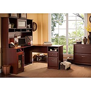 Amazon Com Cabot L Shaped Desk With Hutch And Lateral