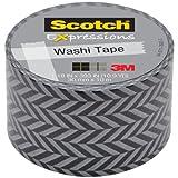 3M C314W-P2 Washi Tape, 1.18 by 393-Inch, Zigzag
