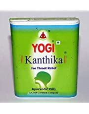 Yogi Kanthika Ayurvedic Pills India Herbal For Sorethroat Sweling Cough Relief