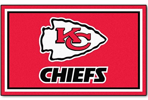 K&A Company NFL - Kansas City Chiefs 4'x6' Rug Decorative Ultra - City Tiles Carpet Kansas