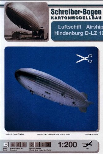 Schreiber-Bogen Airship Hindenburg D-LZ 129 Card Model (Hindenburg Model compare prices)