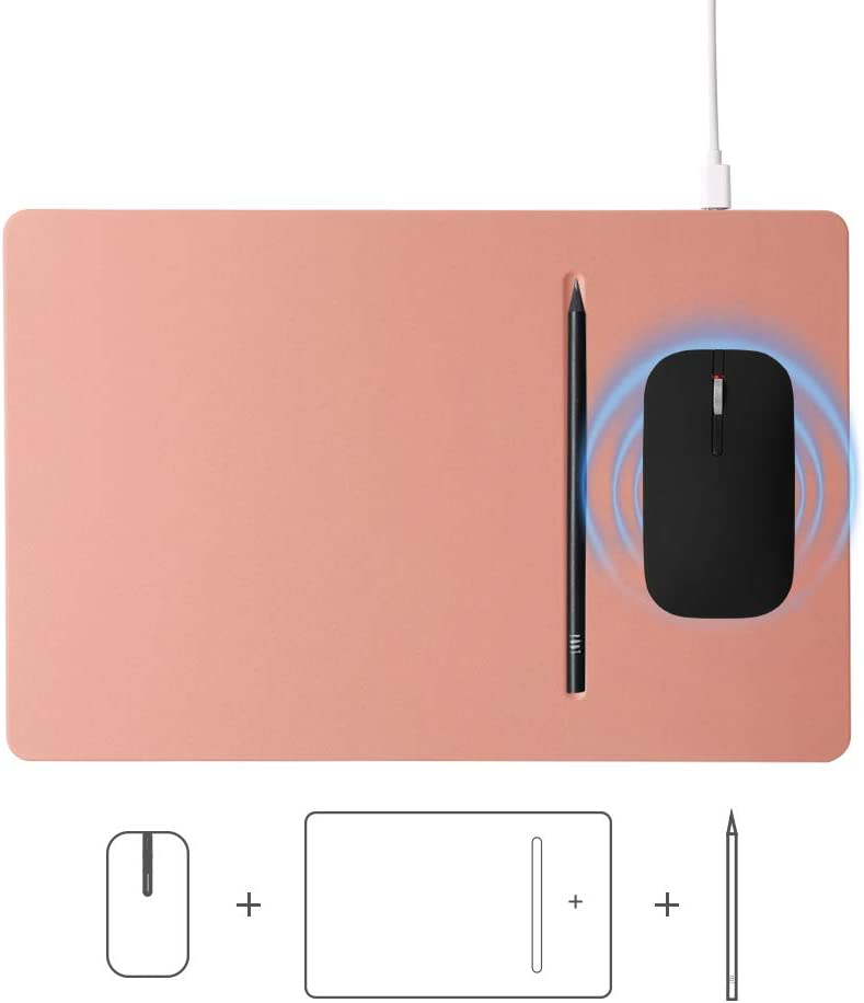 POUT HANDS3 PRO Combo 3 in 1 Qi Fast Wireless Charging Charger Mouse Pad Mat for iPhone Xs Max//XR//X//XS//8//8 Plus Samsung Galaxy S10//S9//S8 Note 9//8 Midnight Blue Wireless Rechargeable Silent Mouse