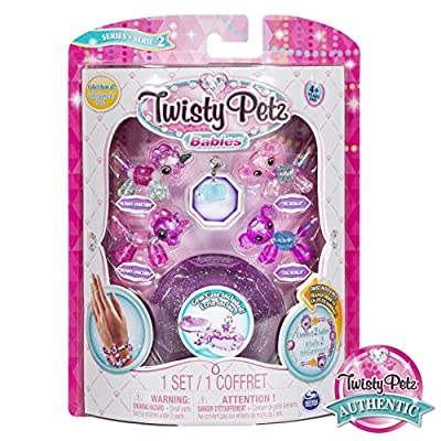 Twisty Petz, Series 2 Babies 4 Pack, Unicorns and Koalas Collectible Bracelet and Case (Purple) for Kids: Toys & Games