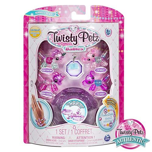 Twist Animal - Twisty Petz, Series 2 Babies 4 Pack, Unicorns and Koalas Collectible Bracelet and Case (Purple) for Kids