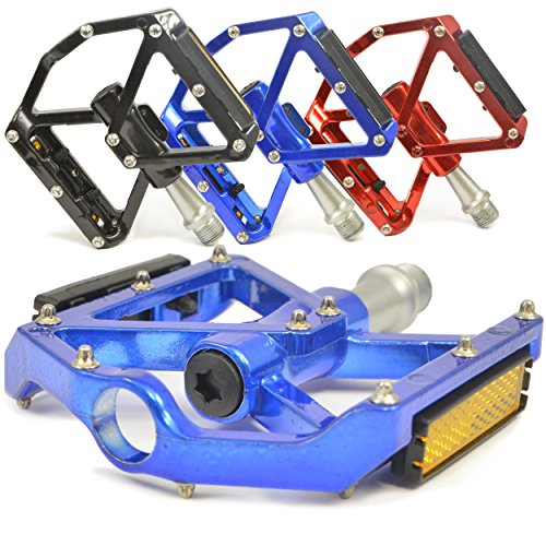 Lumintrail PD-606S MTB/BMX Road Mountain Bike Bicycle Platform Pedals Flat Alloy Sealed Bearing 9/16