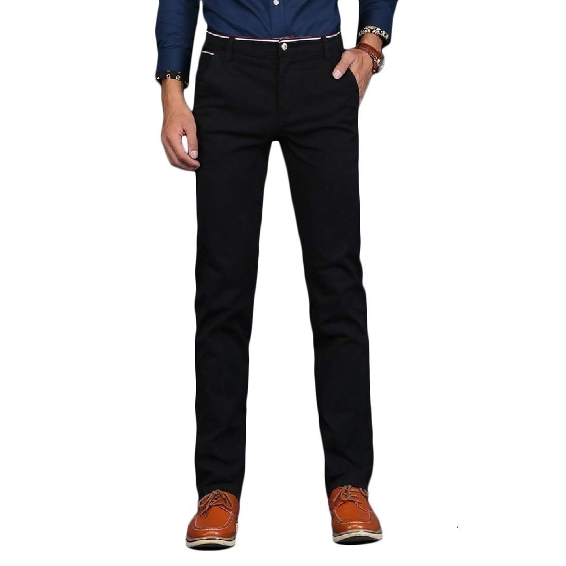 Mfasica Mens Plus Size Butt Lifter Silm Straight Business Pants
