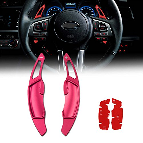 - GTinthebox Aluminum Steering Wheel Paddle Shifter Extensions For Scion FRS Subaru BRZ Impreza WRX Legacy XV Crosstrek (Red Matte Finish)