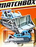 Matchbox Die Cast Toy Matchbox Construction Bulldozer Ground Breaker #42 of 100 Blue Variant Body Gray Plow Blade