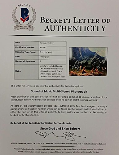 SOUND OF MUSIC Cast Signed 8x10 Photo (7) Autos Image #4 w/ Beckett ...