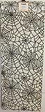 Thro Marlo Lorenz Halloween Spiderweb Table Runner 72 x 14 Black