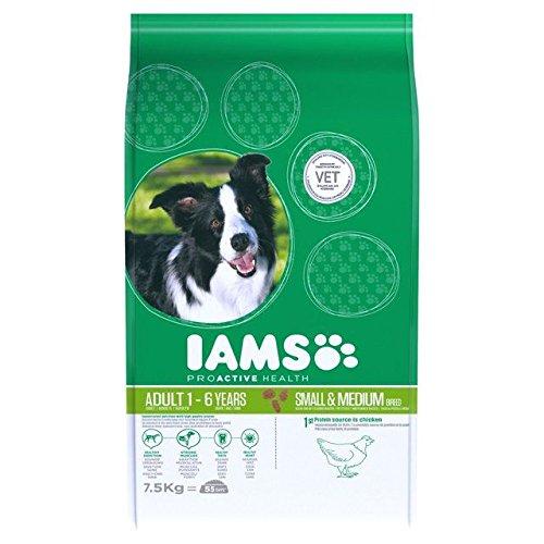 Iams Adult Dry Dog Food Small & Medium Breed 7.5kg (PACK OF 2)