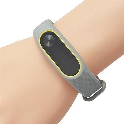 upxiang et façon ursprünglicher repasser de poignet en silicone, nouveau bracelet Bracelet pour Xiaomi Mi bande à encastrer 2 25,50 x 1,85 x 0,90 cm D