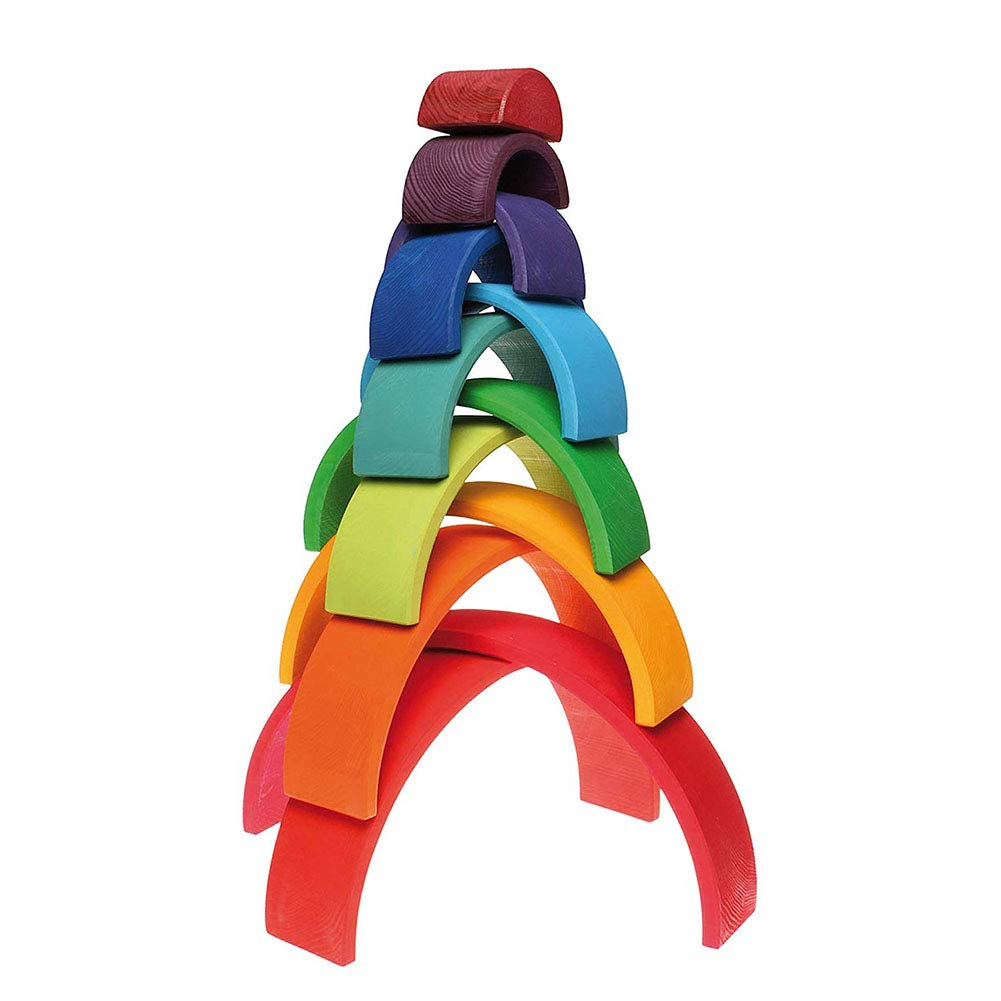 Aoile 12PCS/Set Children Wooden Nesting Puzzle Building Blocks Rainbow Stacker Educational Toy by Aoile (Image #4)