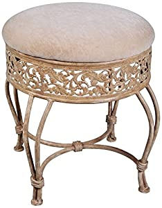 Amazon Com Hillsdale Villa Iii Vanity Stool Antique