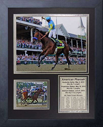 - Legends Never Die American Pharaoh 2015 Triple Crown Winner Framed Photo Collage, 11