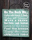 Funlaugh Deck Rules Deck Sign Patio Decor Patio Sign Deck Decor Outdoor Living Deck Sign Deck Decoration Bedroom Wood Sign with Sayings Home Decor Plaque Sign