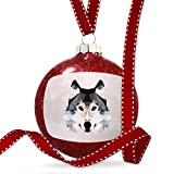 Christmas Decoration Low Poly zoo Animals Wolf Ornament