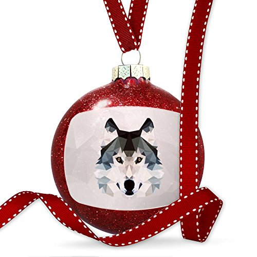 Christmas Decoration Low Poly zoo Animals Wolf Ornament by NEONBLOND
