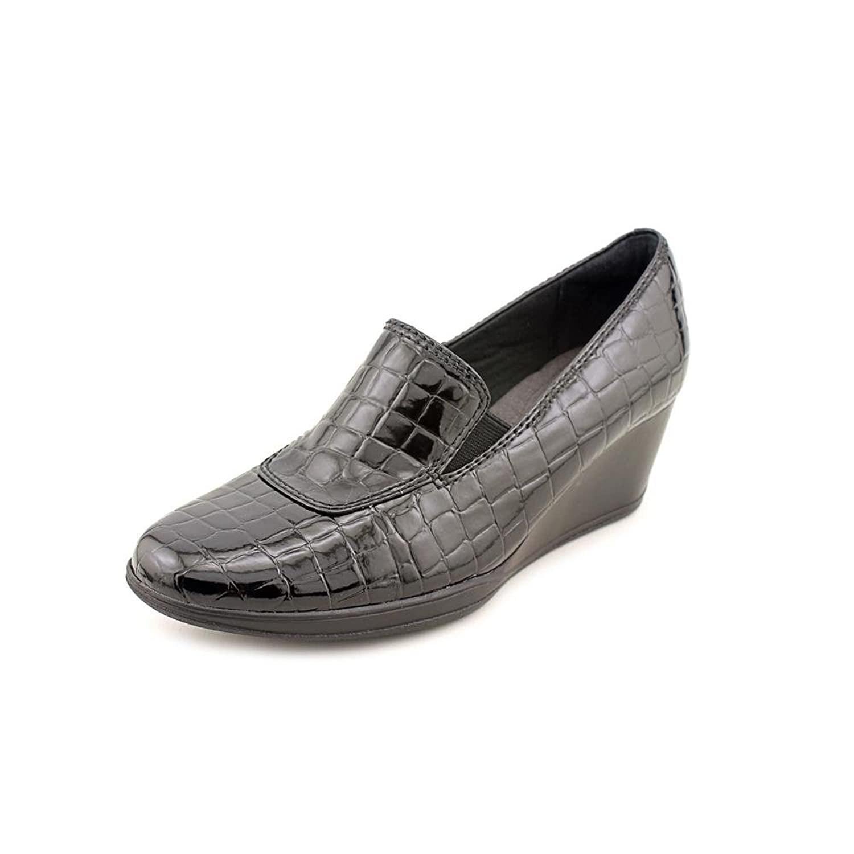 Clarks Portrait Dec Women Synthetic Wedge Heel, Black, Size 9.5