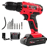 20V Electric Cordless Drill - 3/8' Keyless Chuck, Lightweight Cordless Drill,Rechargeable Lithium-Ion battery Drill/Driver,Durable&Fast Application Speeds Dirll kit by AUTOJARE
