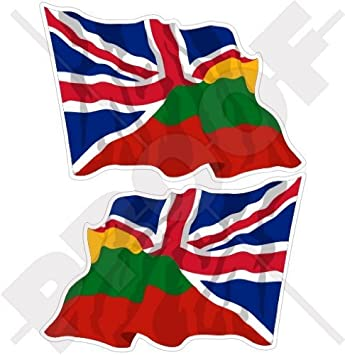 LITHUANIA FLAG LAMINATED CAR SELF ADHESIVE VINYL DECAL STICKER NEW
