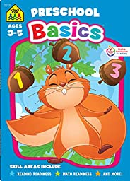 School Zone - Preschool Basics Workbook - 64 Pages, Ages 3 to 5, Colors, Numbers, Counting, Matching, Classify