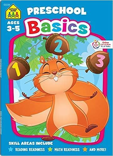 Amazon.com: School Zone - Preschool Basics Workbook - 64 ...