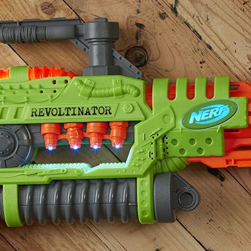 51Z1V9Lf%2BEL - NERF Revoltinator Zombie Strike Toy Blaster with Motorized Lights Sounds & 18 Official Darts for Kids, Teens, & Adults