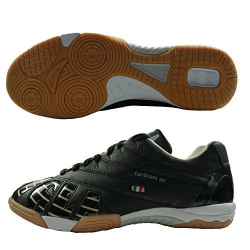 AGLA - Zapatillas de fútbol sala de Piel para hombre Negro negro 27 negro