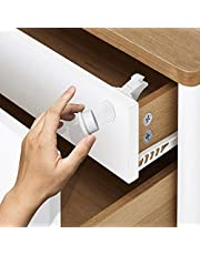 12 Locks, 3 Keys - Easy to Install Magnetic Safety Locks for Cupboard, Cabinet & Drawers with Extra 3M Adhesive Strips - Child and Baby Proof