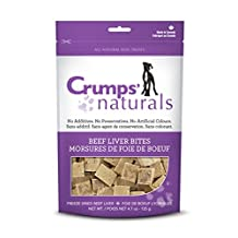 Crumps' Naturals Beef Liver Bites for Pets, 4.7-Ounce