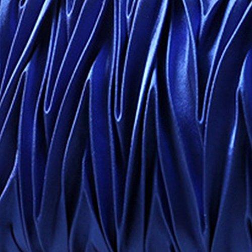Mujeres Bolso Vestir Fiestas Aivtalk Azul para de de Cuerda para Satinado RqzwCUn1