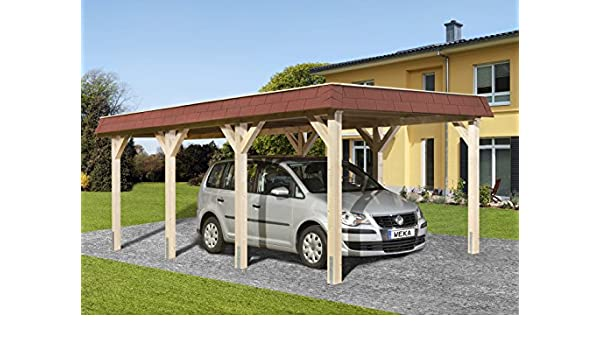 Weka Cola para Madera de tejado Plano de único CarPort Talla 1 ...
