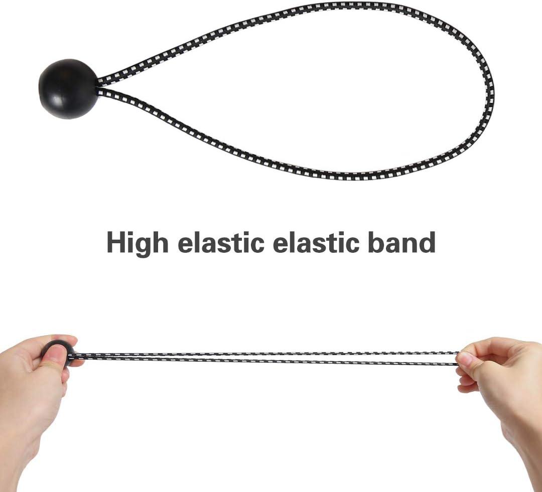 bola de cuerda el/ástica Mingjing ganchos de tienda de campa/ña soporte de lona rizos de extensi/ón carpas de campa/ña ganchos de lona Cordones profesionales para pancartas o lonas