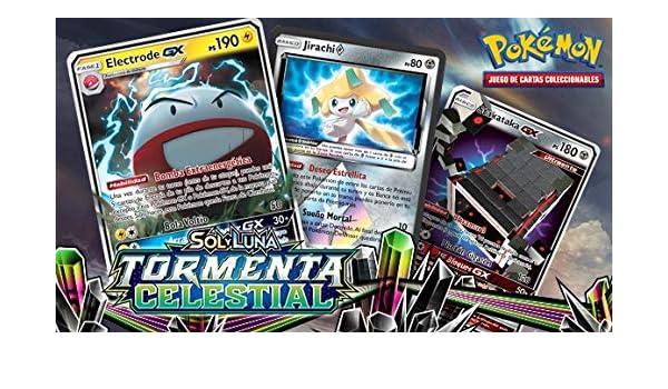 Caja 18 Sobres Pokemon TORMENTA Celestial: Amazon.es ...