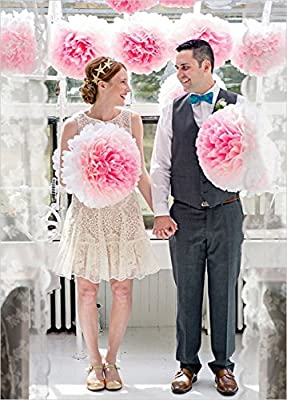 Pom Poms Tissue Paper Flowers For Celebrate Decoration Fluffy Hanging Lantern Party/Wedding Blooms Ball