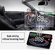 bangweier 14cm Écran HD 2D vitesse voiture Effet visuel d'alarme affichage tête Multi Couleur Design
