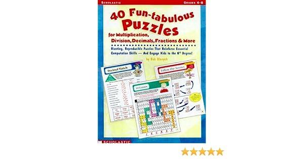 40 Fun-tabulous Puzzles for Multiplication, Division, Decimals ...